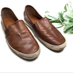 FRYE   sz 6 Dylan slip on sneakers in cognac